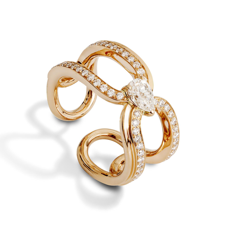 Gismondi1754 clip ring rose gold diamonds news
