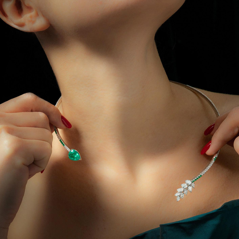 La collana Essenza senza il ciondolo rimovibile.