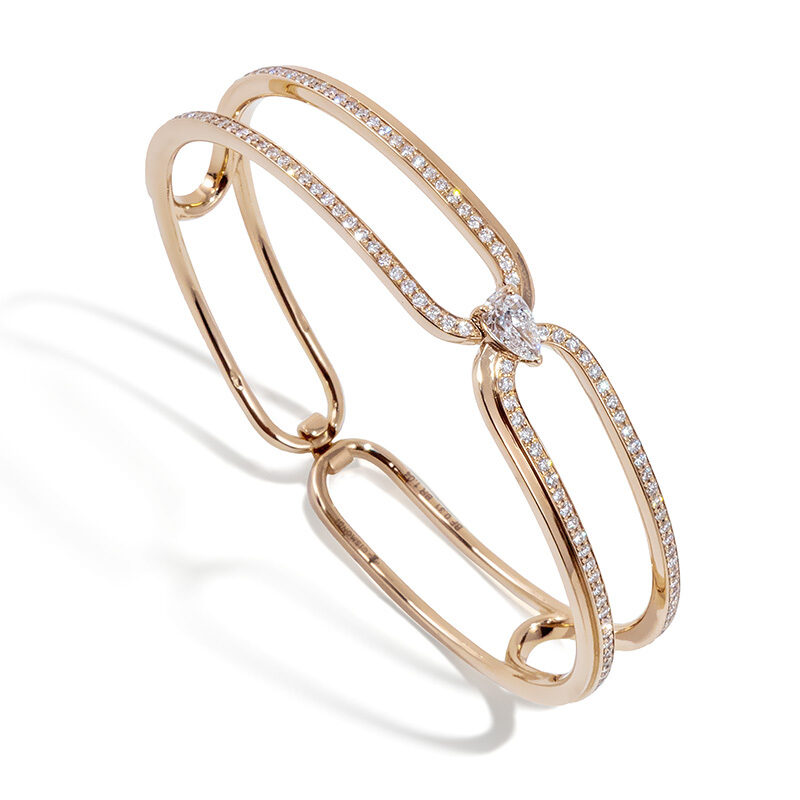 Gismondi1754 clip bracelet rose gold diamonds
