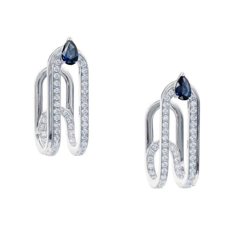 Gismondi1754 clip earrings white gold diamonds